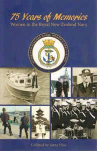 "Cover of my book ""75 Years of Memories, Women in the Royal New Zealand Navy"